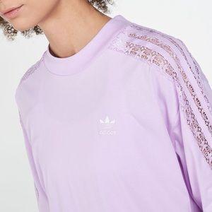 Adidas Shirt w/ Lace Detail 💜